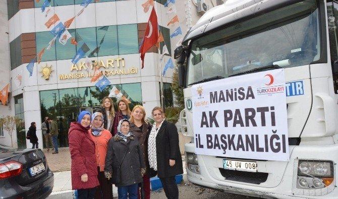 AK Partili kadınlardan Halep'e yardım eli