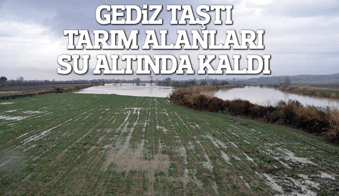 Aşırı yağışlar Gediz'in taşmasına neden oldu