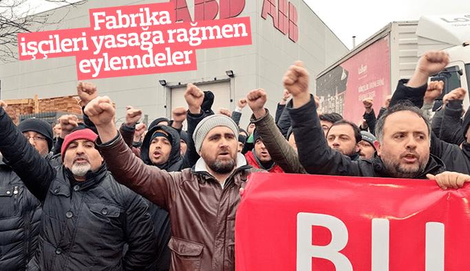EMİS fabrikalarında 'Grev yasağını tanımıyoruz' eylemleri: İşçiler üretim yapmıyor