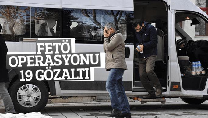Manisa'da FETÖ operasyonu 19 gözaltı