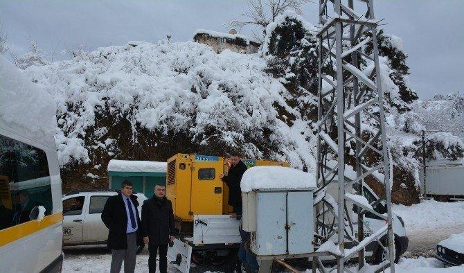 MASKİ'nin çalışmalarına kar da engel olamadı