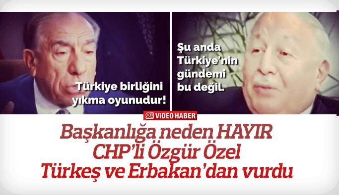 Özgür Özel Türkeş ve Erbakan üzerinden vurdu