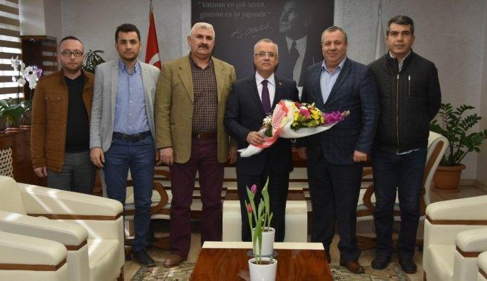 Emlakçılardan Başkan Kayda'ya ziyaret