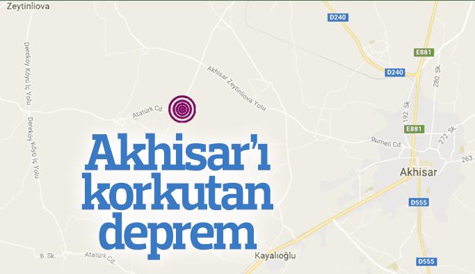 Akhisar'ı korkutan deprem