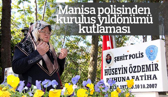 Manisa polisinden kuruluş yıldönümü kutlaması