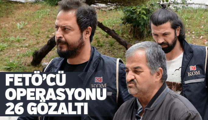 Manisa'da FETÖ operasyonu 26 gözaltı