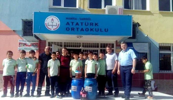 Sarıgöllü öğrencilerden atık yağ projesi