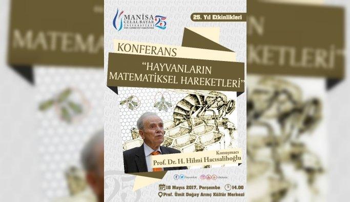Ünlü matematikçi Hacısalihoğlu, yarın Manisa'da