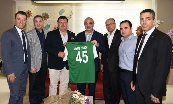 Manisa Büyükşehir Belediyespor'dan Cengiz Ergün'e ziyaret