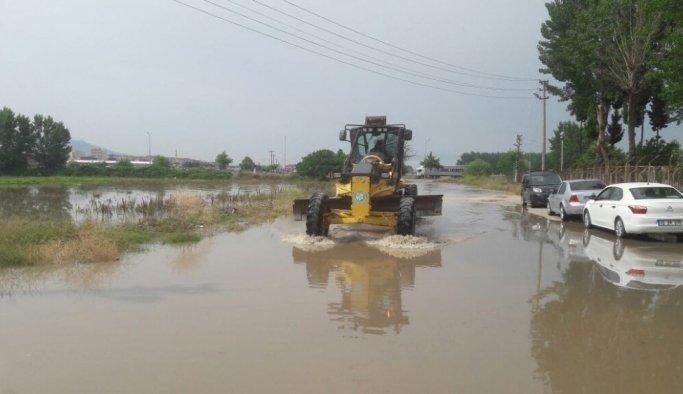 Sağanak yağışın zararları tespit ediliyor
