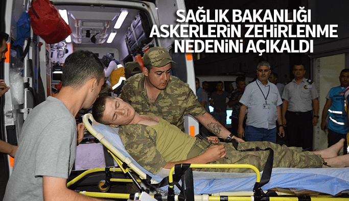Sağlık Bakanlığı askerlerin zehirlenme nedeni açıkladı