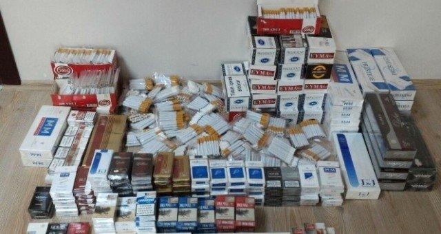 Saruhanlı'da kaçak sigara ele geçirildi