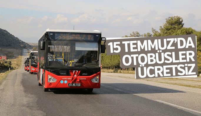 15 Temmuz'da halk otobüsleri ücretsiz