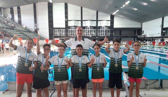 Geleceğin yüzücüleri Manisa'da yetişiyor