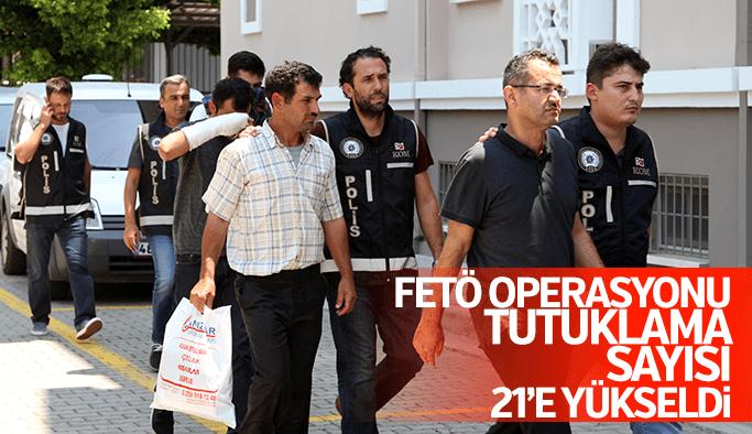Manisa'da FETÖ operasyonu tutuklama sayısı 21'e yükseldi