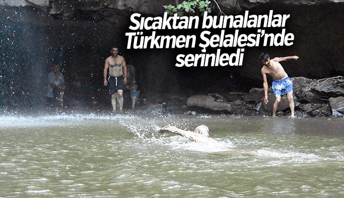 Manisa'da sıcaktan bunalanların adresi Türkmen Şelalesi oldu