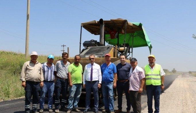 Manisa'da sıcak asfalt çalışmaları