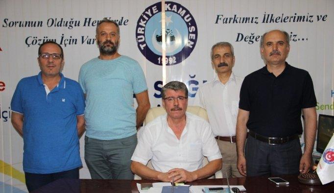 Türk Sağlık-Sen Manisa Şube Başkanlığına Feymi Türemiş seçildi
