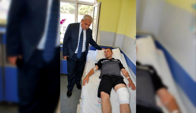 Vali Güvençer'den yaralı askerlere ziyaret