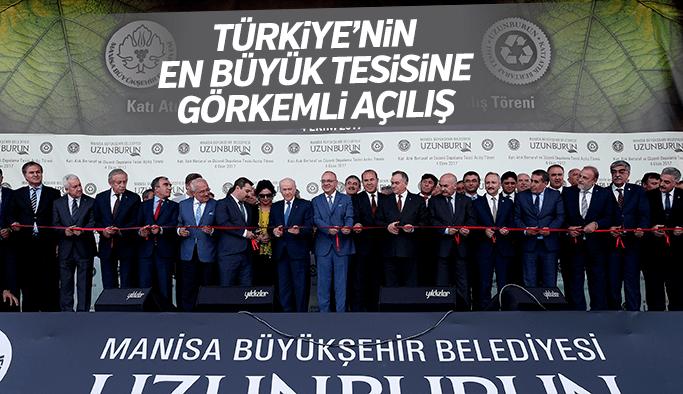 Türkiye'nin en büyük tesisine görkemli açılış