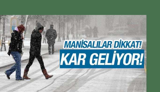 Manisa'da kar yağışı bekleniyor