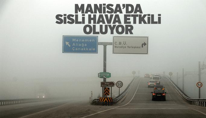Manisa'da yoğun sisli hava etkili oldu