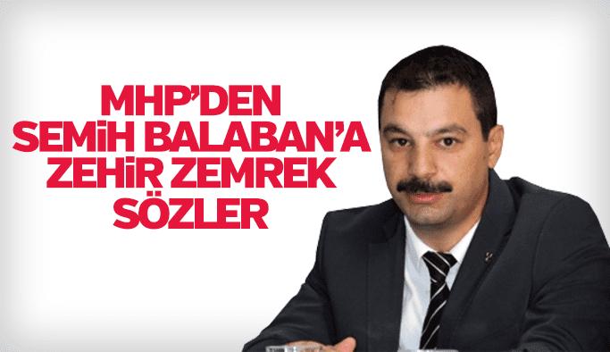MHP Manisa İl Başkanı Erkan Öztürk'ten CHP İl Başkanı Semih Balaban'a çok sert sözler