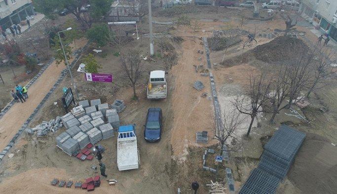 Adil Aygül Parkı'nda çalışmalar başladı