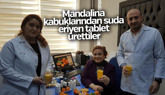 Mandalina kabuklarından suda eriyen tablet ürettiler