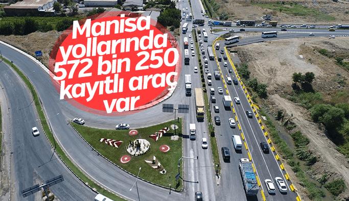 Manisa'da trafiğe kayıtlı araç sayısı 572 bin 250'ye ulaştı