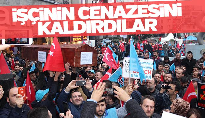 Türk Metal Sendikası işçinin cenazesini kaldırdı