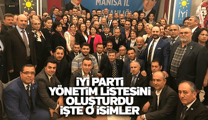 İYİ Parti Manisa İl Teşkilatı listesi açıklandı
