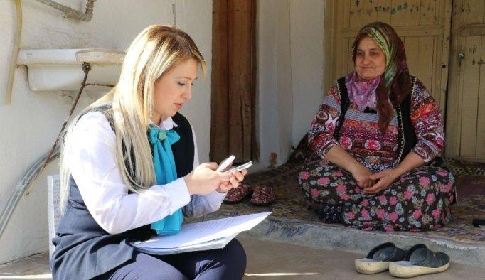 Sosyal Doku Projesinde ekipler kapı kapı dolaşıyor