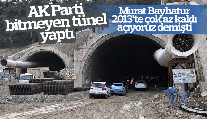 Murat Baybatur 2013'te Sabuncubeli Tüneli açılıyor demişti Manisalı artık inanmıyor