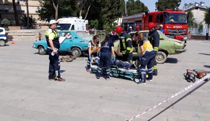 Kaza anını simülasyon aracında yaşadılar