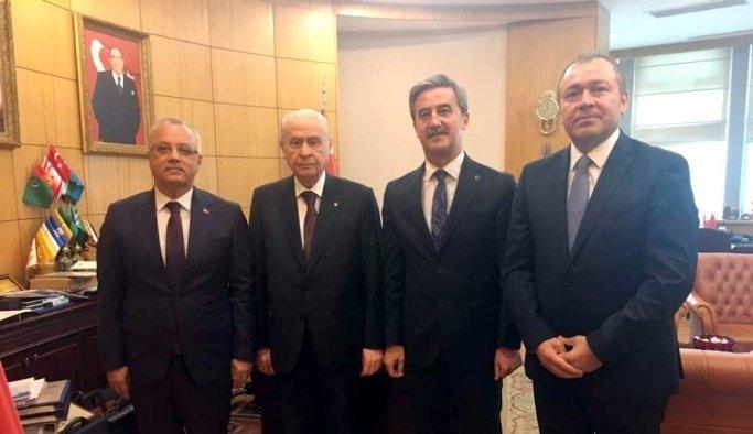 MHP'li Başkanlar Bahçeli'yi ziyaret etti