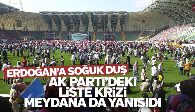 Erdoğan'ın Akhisar mitingi boş kaldı
