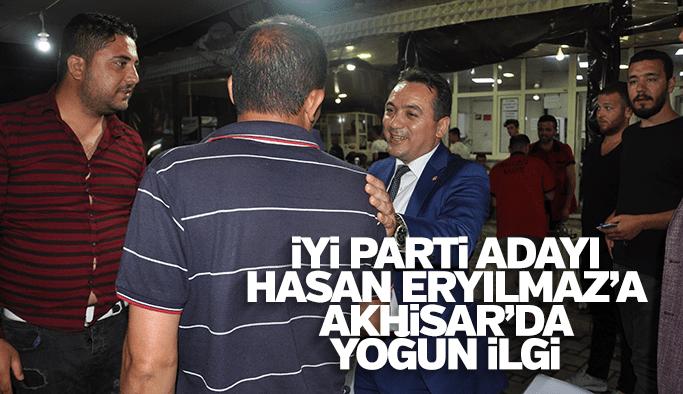 İYİ Parti adayı Hasan Eryılmaz'a Akhisar'da yoğun ilgi
