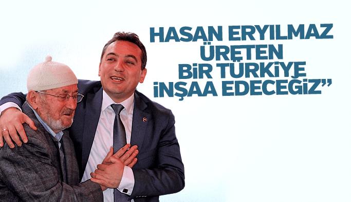 """İYİ Parti Adyı Hasan Eryılmaz """"Üreten bir Türkiye inşaa edeceğiz"""""""