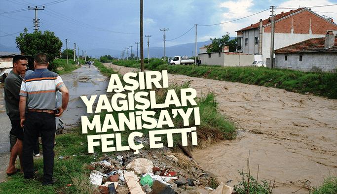 Aşırı yağışlar Manisa'yı felç etti