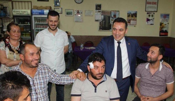 İYİ Partili Eryılmaz Hamzabeyli'de vatandaşlarla buluştu