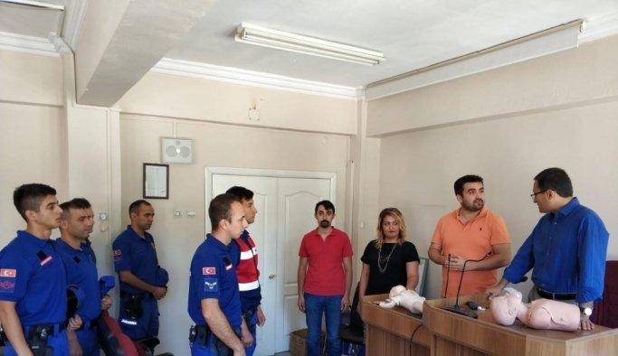 Alaşehir'de jandarması ilk yardım eğitiminden geçti