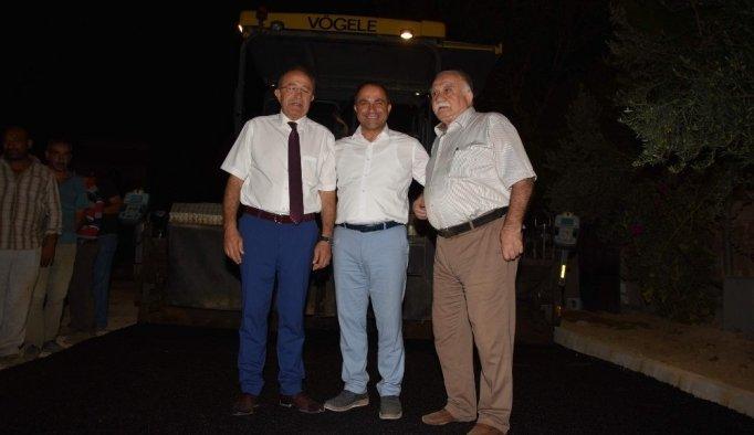 Alaşehir'in asfalt çalışmalarına yerinde inceleme