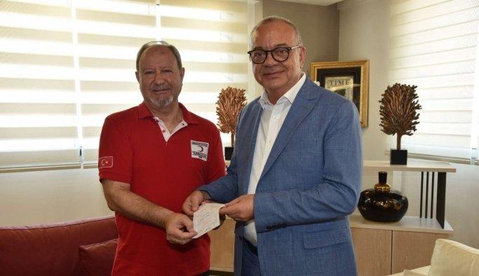 Başkan Ergün'den Kızılay'ın kurban bağışına destek