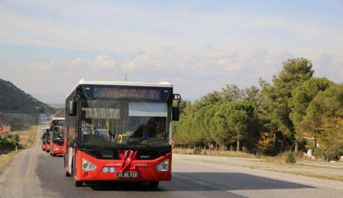 Manisa'da bayramda 'kırmızı' otobüsler ücretsiz