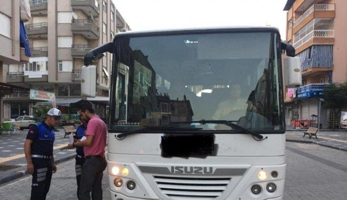 Salihli'de belgesiz servis taşımacılığına geçit yok