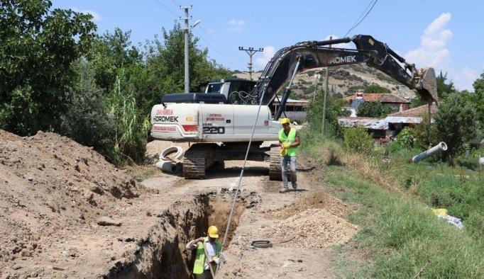 Kula'da 4 buçuk kilometrelik içme suyu hattı