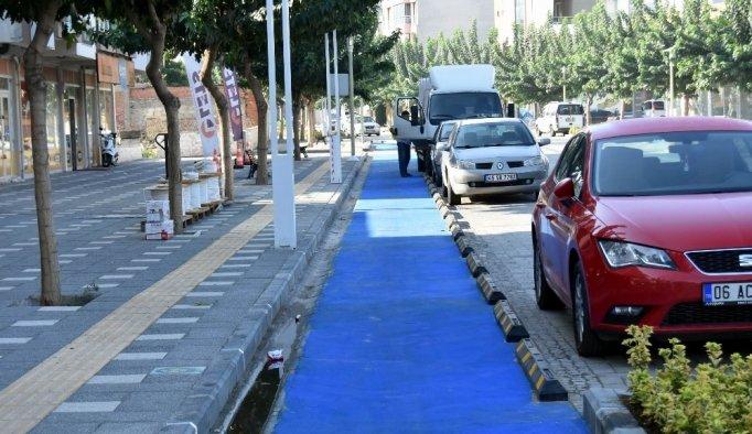 Prestij caddesindeki bisiklet yolu hizmete açıldı