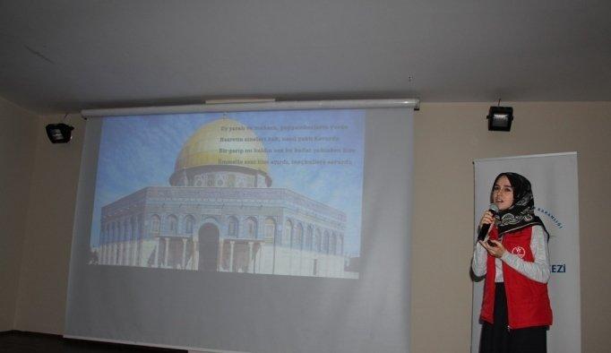Öğrencilere Kudüs'ü anlattılar