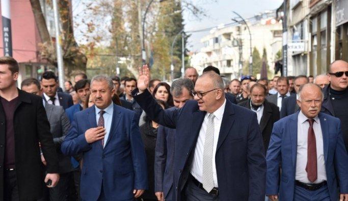Başkan Ergün'e Gördes'te coşkulu karşılama